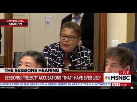 """Rep. Bass Grills AG Sessions On """"Black Extremism"""" and Black Lives Matter"""