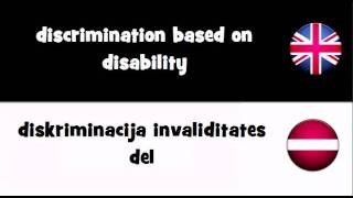 SAY IT IN 20 LANGUAGES = discrimination based on disability