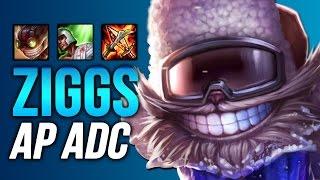 NEW META? CHALLENGER ZIGGS AP ADC BOT LANE (League of Legends)