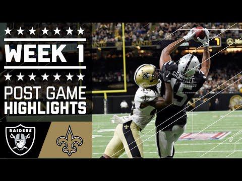 Raiders vs. Saints | NFL Week 1 Game Highlights