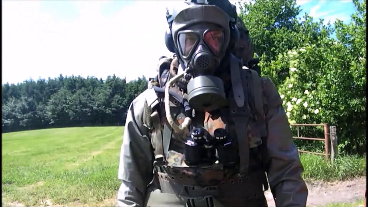 Patrol in Zodiak CBRN suit - 4 minutes excerpt - (ABC-Spähvorstoß im Zodiak  Schutzanzug)