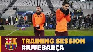 Barça's training session at Juventus Stadium