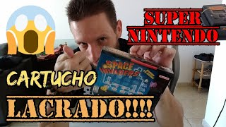 Unboxing / Desembrulho cartucho Space Invaders pra Super Nintendo lacrado