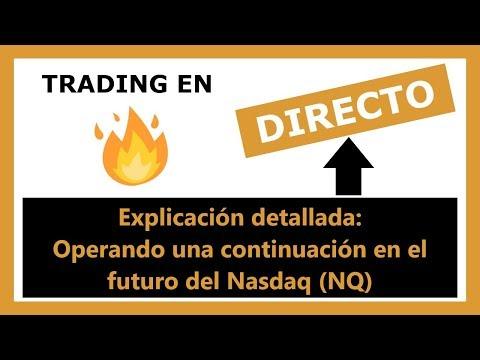 ╠► TRADING en DIRECTO ◄╣ Patrón de Continuación  [ NASDAQ NQ ]