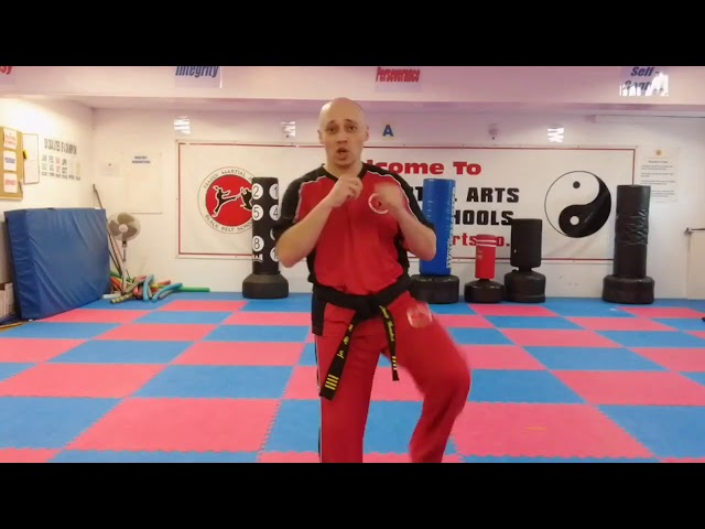 Learn Martial Arts - Mr Tandoh showing what parts of the foot you should use for specific kicks