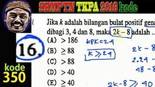 SBMPTN 2016 TKPA kode 350 no 16, TPA  aljabar