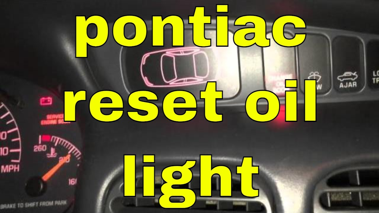 10 seconds to reset change oil soon light pontiac grand prix youtube
