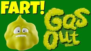Gas Out Game!  FARTING GAME Makes Funny Gross Fart Sounds!  Family FUN Game Night