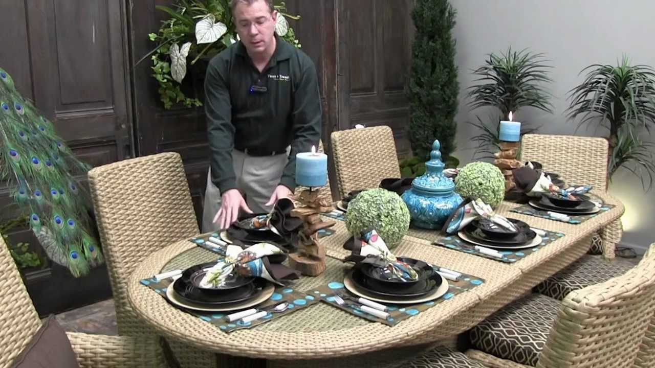 How To Set An Outdoor Dining Table   Trees N Trends   Unique Home Decor    YouTube