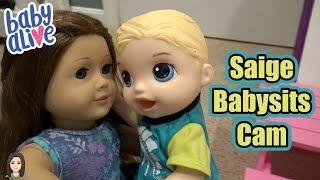 American Girl Saige Babysits Baby Alive Cam! | Kelli Maple