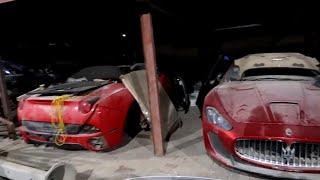 ABANDONED CARS IN DUBAI-TRILLIONAIRE'S EDITON(FERRARI,R8,FISKER,G WAGONS,GTR'S)