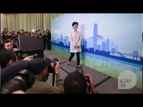 Carrie Lam officially announces candidacy for chief executive