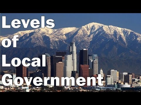 The Levels of Local Government