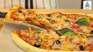Домашняя ПИЦЦА без Дрожжей за 20 МИНУТ, быстрое тесто для пиццы!