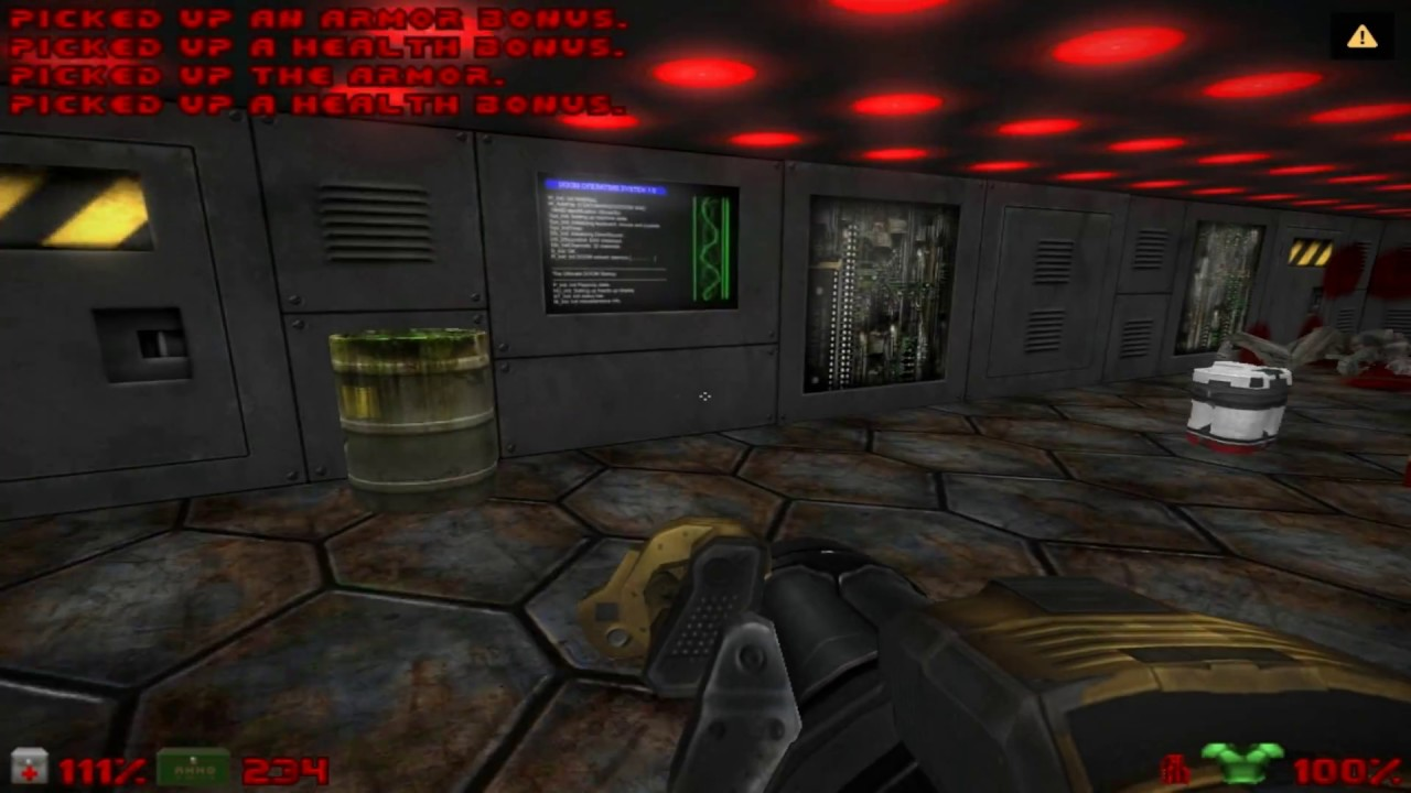 jdoom, doomsday engine, three levels gameplay, with doom 3 models and  textures