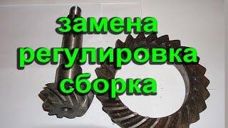 видео Регулировка ведомой шестерни, подшипников моста Спайсер на УАЗ