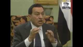 الرئيس مبارك يهدد اسرائيل في اخطر حوار صحفي  مع مذيع يهودى