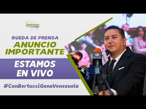 Rueda de Prensa: Javier Bertucci - Anuncio Importante desde Caracas