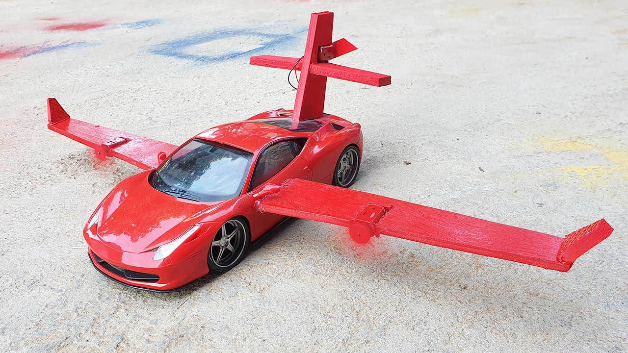 How To Make Airplane Car - DIY Creation Red Car