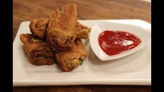 Baked Matar Paneer Bread Rolls | Sanjeev Kapoor Khazana