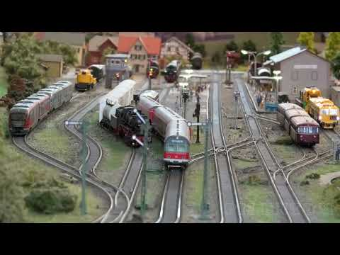 Rail Transport Modeling in Germany: A small model train exhibition in HO scale
