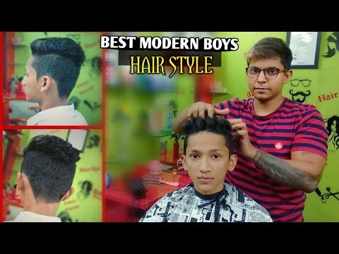 Best MODERN Kids Boys Hair style - How to modern messy Quiff - Hairstyle Transformation...#56