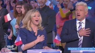 [Zap télé] TPMP : Cyril Hanouna et ses chroniqueurs chantent la Marseillaise 21/03/2017