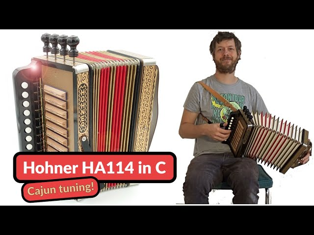 Hohner 114 button accordion in C - Cajun Tuning - Le Canard A Bois Sec  | by Accordion Doctor