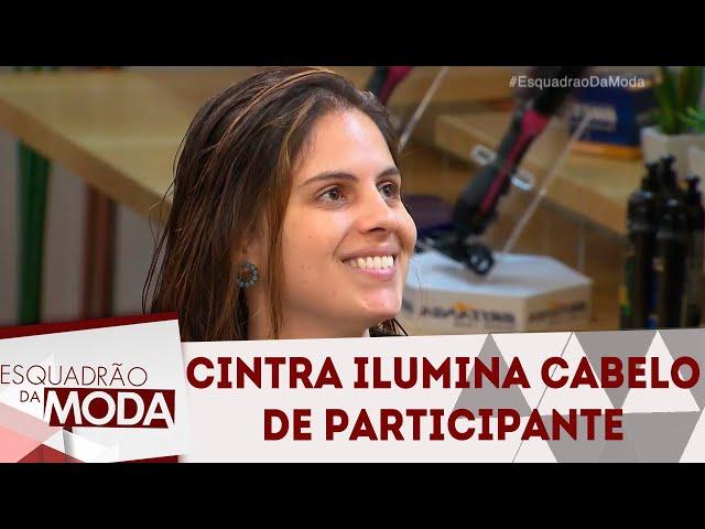 Rodrigo Cintra ilumina cabelos de participante | Esquadrão da Moda (13/10/18)