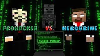 Monster School | Herobrine V.s Pro Hacker  | Monster School