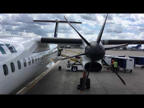 4k REVIEW WESTJET ENCORE BOMBARDIER Q400 TORONTO - MONTREAL