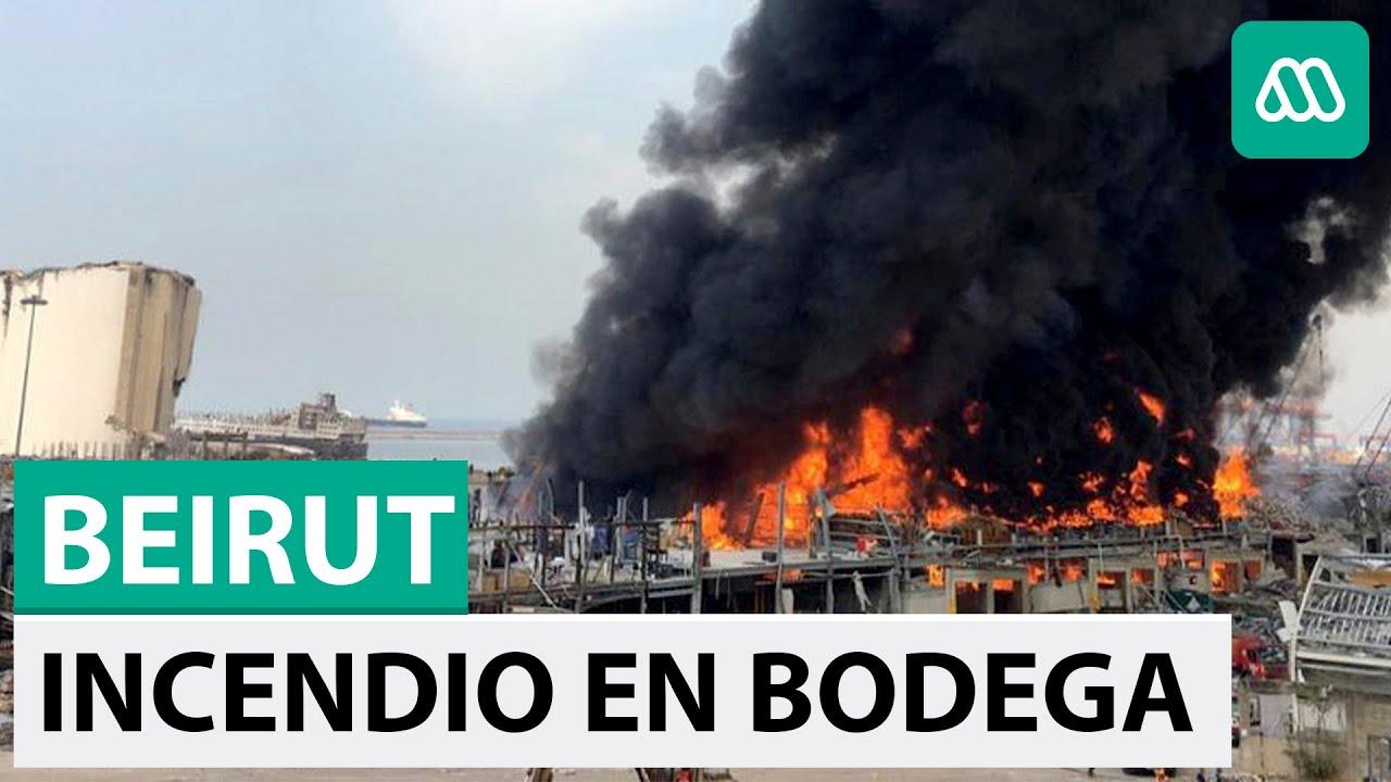 Nueva explosión en Beirut | Gigantesco incendio en bodega de aceite
