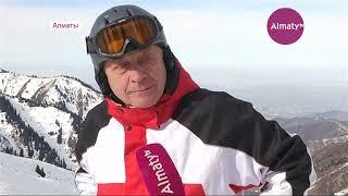 Полицейские на лыжах начали патрулировать  Шымбулак (20.11.18)