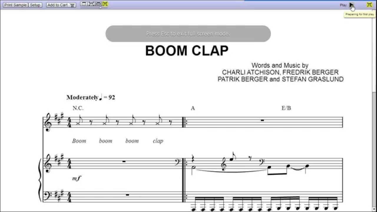 boom clap by charli xcx piano sheet music teaser youtube