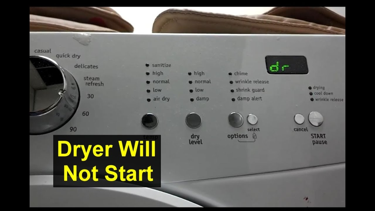 dryer will not start dr displayed e66 error frigidaire affinity rh youtube com Frigidaire Affinity Electric Dryer Manual Frigidaire Affinity Dryer Manual PDF
