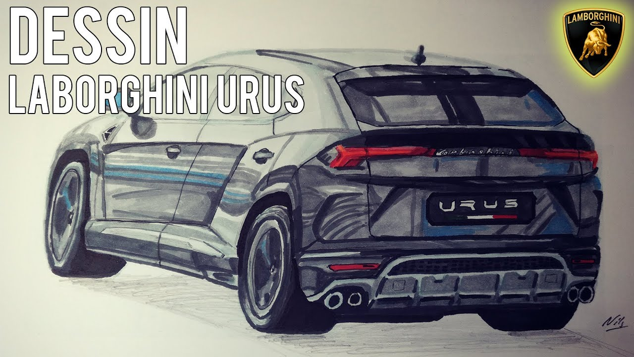dessin lamborghini urus youtube. Black Bedroom Furniture Sets. Home Design Ideas