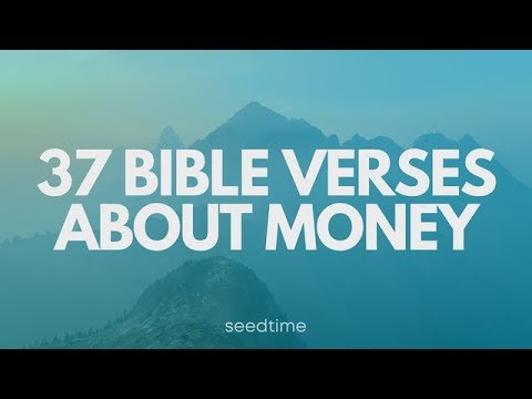 37 Bible Verses about money and finances