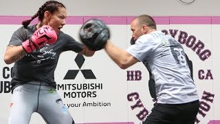 UFC 232: Cris Cyborg Media Workout, Sparring - MMA Fighting