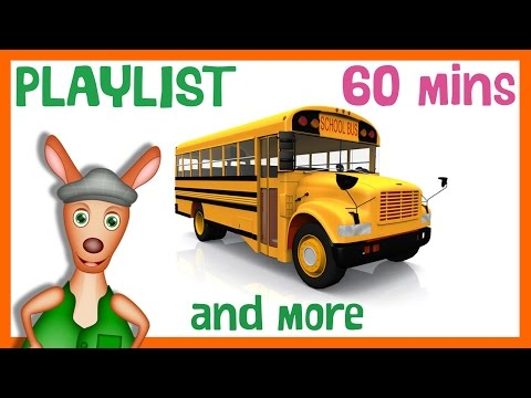 SCHOOL BUS and more | 60min Playlist for Kids. Bus videos for children.
