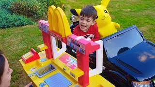 McDonald's Drive Thru -Pretend Play with Kitchen Toy