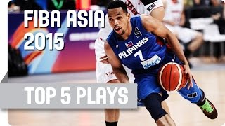Top 5 plays - Semi Finals (day 8) - 2015 FIBA Asia Championship