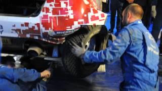 Robert Kubica - naprawa auta sobota serwis