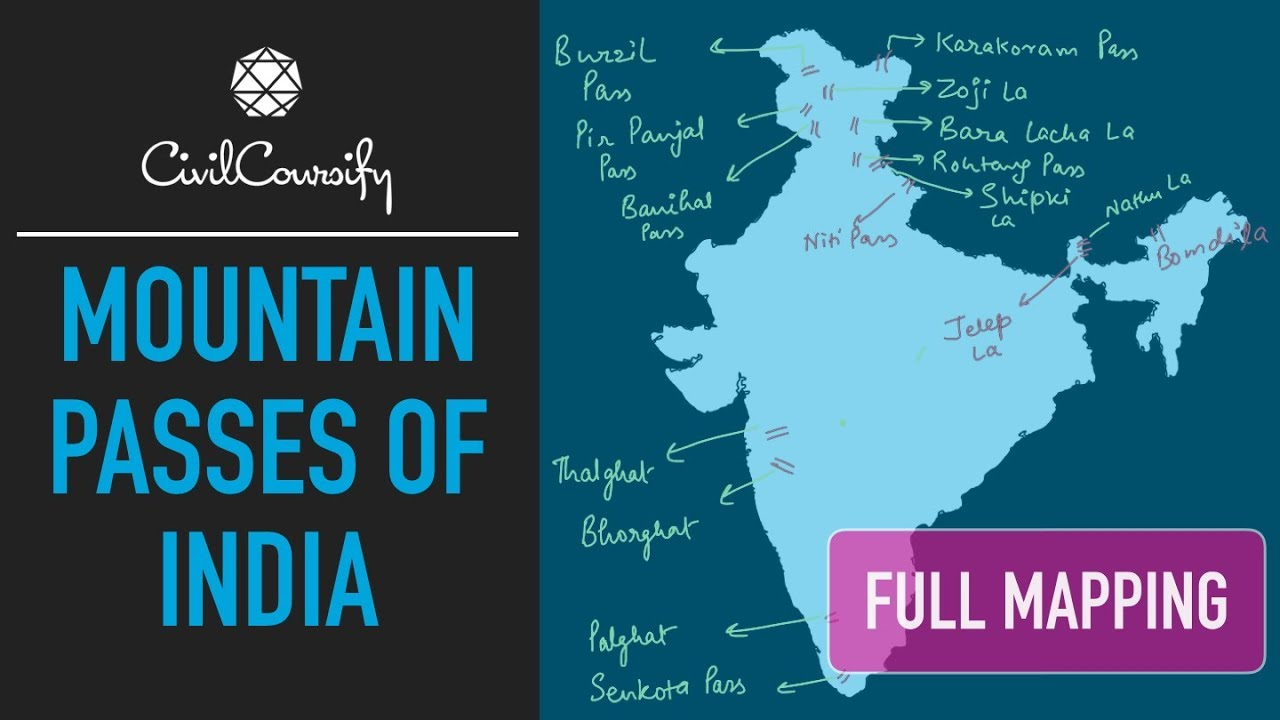Important Mountain Passes of India | Full Mapping Practice