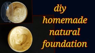 how to make diy homemade foundation at home in 1 minute👌👌