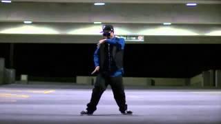 Robotic dubstep professional dancer