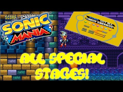 Sonic Mania - ALL Sonic Special Stages + Super Sonic Transformation!