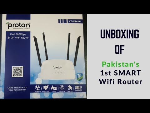 Unboxing of Proton VT-WR459n   64MB Ram - 16MB Rom   Pakistan's First Smart Wifi Router