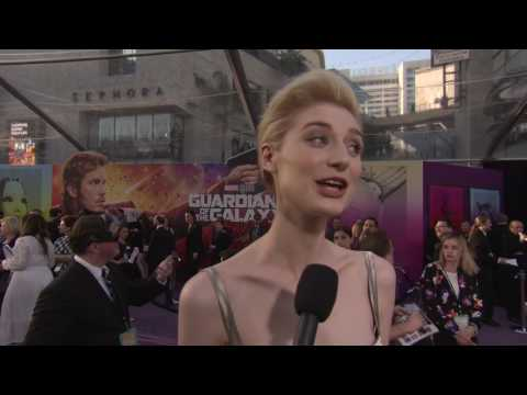 Guardians of the Galaxy Vol  2  Elizabeth Debicki 'Ayesha' Red Carpet Movie Premiere Interview