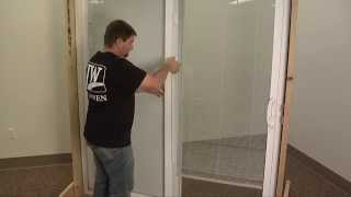 how to reconnect the mini blind magnet for a sliding patio door