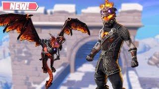 NEW MOLTEN BATTLE HOUND SKIN GAMEPLAY! NEW LEAKED SKINS ON FORTNITE!! FORTNITE BATTLE ROYALE!!!